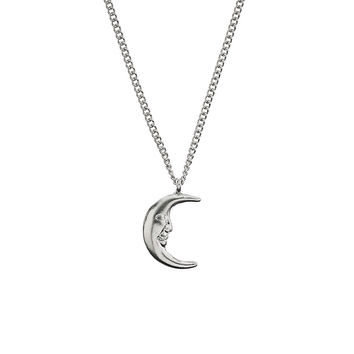 Ditsy Moon Charm Necklace