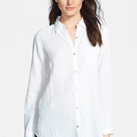 Eileen Fisher Organic Cotton Classic Collar Shirt