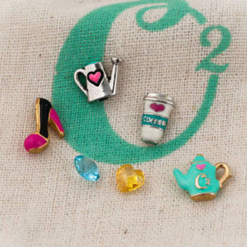 Authentic Origami Owl Jewelry Floating Living Memory Mini Charms Fit Lockets A01