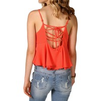 SALE-Lace Up Back Top