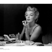 Marilyn Monroe, Back Stage Poster Print by Sam Shaw at Art.com