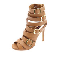 STRAPPY BELTED SINGLE SOLE HEELS