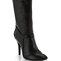 10 Crosby Derek Lam - Panya Woven Leather Mid-Calf Boots - Saks Fifth Avenue Mobile