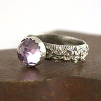 Pink Amethyst and Sterling Silver Ring by SimplyAdorning on Etsy