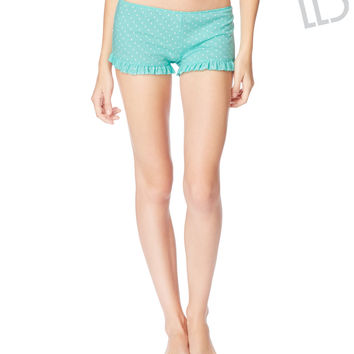 LLD Dot Ruffle Sleep Shorts