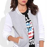 Varsity Jacket with Snap Front