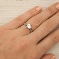 Vintage 90 Carat Diamond Engagement Ring by ErstwhileJewelry