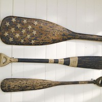 Weathered Painted Oars