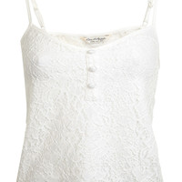 Button Lace Cami - With The Band - Clothing