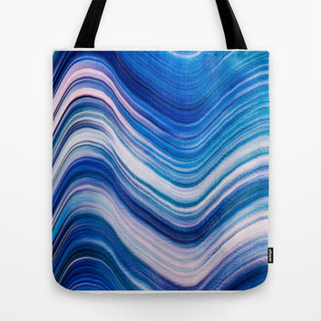 BLUE WAVE Tote Bag by Catspaws | Society6