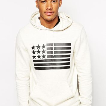 ASOS | ASOS Hoodie With Flag Print at ASOS