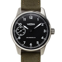 Weiss Standard Issue Field Watch Black Dial