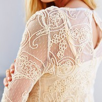 Ladakh Cornelli Lace Long-Sleeve Shift Dress - Urban Outfitters