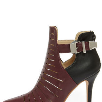 Anne Michelle Momentum 99 Oxblood Pointed Toe Booties