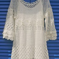 Hand Knit Delicacy of Crochet Dress - Retro, Indie and Unique Fashion