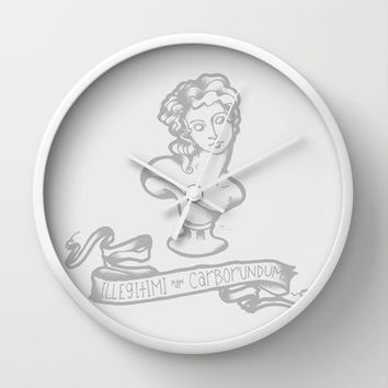 Illegitimi non Carborundum Wall Clock by LOVEDART | Society6
