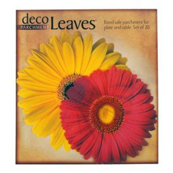 Daisies Deco Parchment Leaves, Package of 20