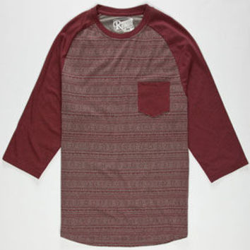 Retrofit Block Ii Mens Baseball Tee Burgundy  In Sizes