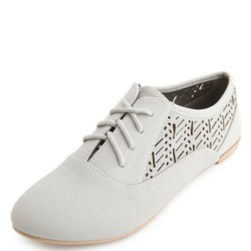 Lace-Up Laser Cut-Out Oxfords