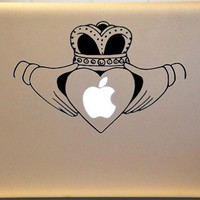 Macbook Irish Claddagh Vinyl Decal IRELAND Celtic Tradition Laptop | MakeItMineDesigns - Techcraft on ArtFire