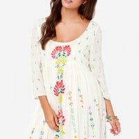 O'Neill Margaret Ivory Floral Print Dress