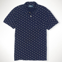 Anchor-Print Polo Shirt