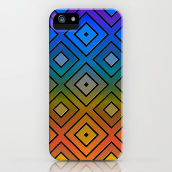 Colorful Diamond Print iPhone & iPod Case by KCavender Designs