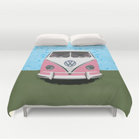 VW Kombi Love van Duvet Cover by Bruce Stanfield