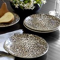 CHEETAH PLATES, SET OF 4