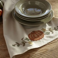 PUMPKIN EMBROIDERED KITCHEN TOWEL