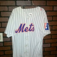 New York Mets NY World Fair Delta Airlines Jersey Size XL MLB Baseball