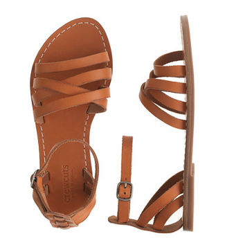 GIRLS' STRAPPY LEATHER SANDALS