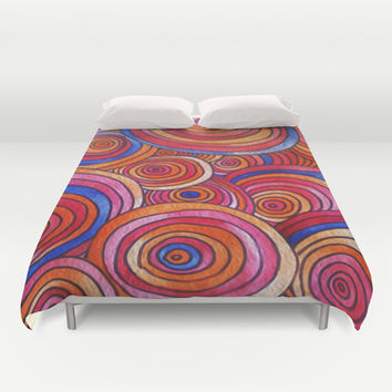 Concentric Circles  Duvet Cover by DuckyB (Brandi)