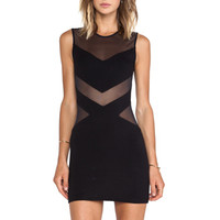 sky Hagab Mini Dress in Black