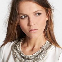 Haute Hippie Embellished Silk Organza Necklace | Nordstrom