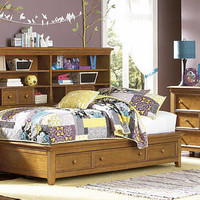 Guthrie Twin Size Big Bookcase Bed