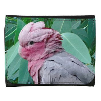Galah Cockatoo Roseate Small Faux Leather Wallet