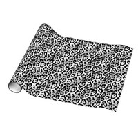 Black & White Animal Print Wrapping Paper