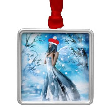 Snow Fairy Christmas Ornament