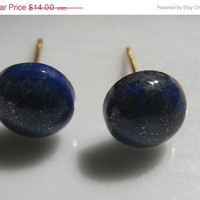 ON SALE Lapis Earring Set by HandcraftedByK on Etsy