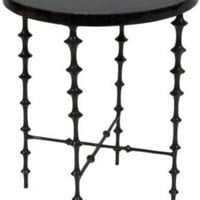 One Kings Lane - Alessandra Branca - Tortoiseshell  Bronze Side Table