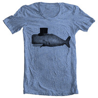 Unisex Men's Women's Vintage WHALE T shirt by FullSpectrumClothing