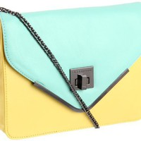 BCBGeneration Charlie UIO083GN Shoulder Bag,Yellow/Light Turquoise