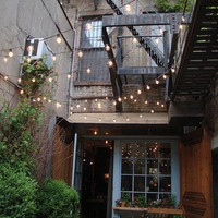 String lights for outdoor spaces
