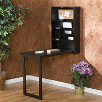 Black Alden Foldout Convertible Desk | Home Office Furniture| Furniture | World Market