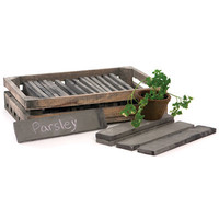 Wood Tiles in Crate