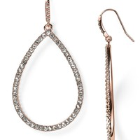 Lauren Ralph Lauren Rose Palais Pave Teardrop Earrings
