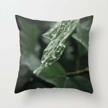 drops Throw Pillow by VanessaGF