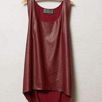 Vegan Leather High-Low Tank