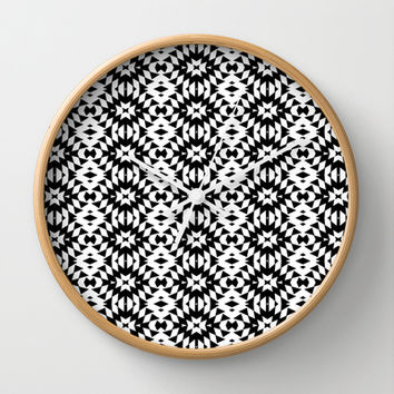 Black And White Mix Wall Clock by Ornaart